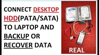 Connect IDE/ PATA or SATA desktop hard drive to laptop for recovery or backup