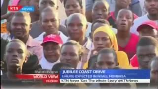 Uhuru addresses supportersin Mtwapa; Jubilee coast drive