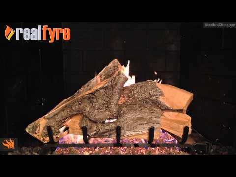 Real Fyre Woodstack Vented Gas Log Set
