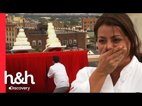 ¡Oh no! ¡Los pasteles cayeron del edificio! | El desafío de Buddy | Discovery H&H