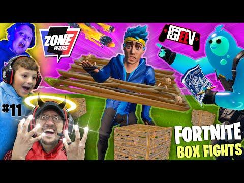 FORTNITE BOX FIGHTS & ZONE WARS w/ FGTeeV Boys Battle (Chase & Duddz vs MIKE)