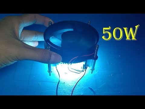 How to make 12V / 50W super bright light using 30V LED chip