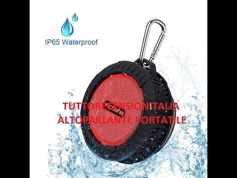 Victsing Altoparlante Bluetooth 4.0 Wireless HIFI Portabile, Effetto Subwoofer Sonoro, con Microfono