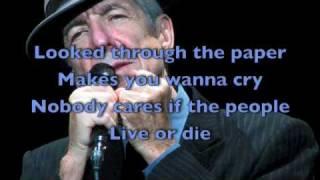 Leonard Cohen /  in my Secret Life