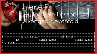 Heretic Guitar Solo Lesson - Avenged Sevenfold (with tabs)