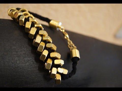 Armband aus Schraubenmuttern , DIY Bracelet ,RuthvonG