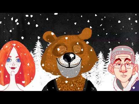 """СерьГа  """"Я - Бурый Медведь"""""""