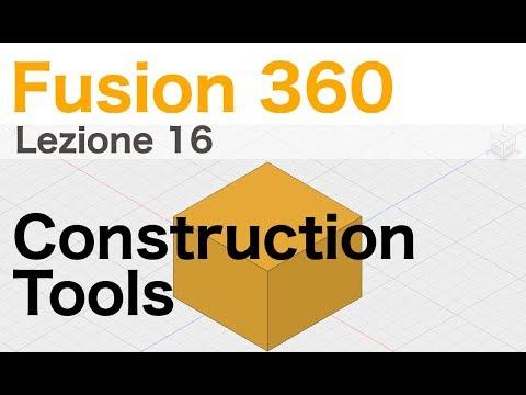 Utilizzare gli strumenti di supporto al disegno: contruction tools - Corso di Fusion 360  - L.16