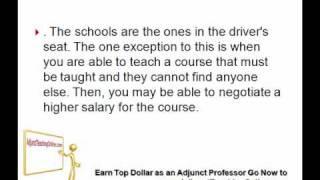 Community College Adjunct Professor Salaries