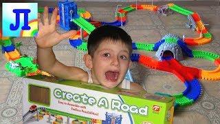 Гибкий трек БОЛЬШОЕ ПУТЕШЕСТВИЕ  ТРЕКИ МАШИНКИ игры игрушки для мальчиков. 2 трека соединили вместе