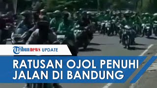 Fakta Viral Ratusan Driver Ojol Penuhi Jalanan Kota Bandung, Tolak PPKM Darurat Sambil Teriak 'Buka'
