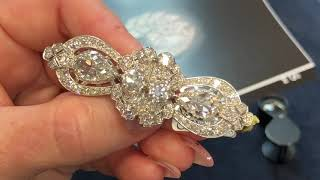 Diamond Brooch Which Spilts Into A Pair Of Diamond Clips