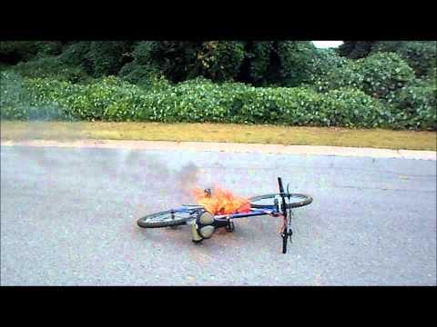 epic e-bike FAIL 96v volt electric bike death by fire RAW video 50,000 watts
