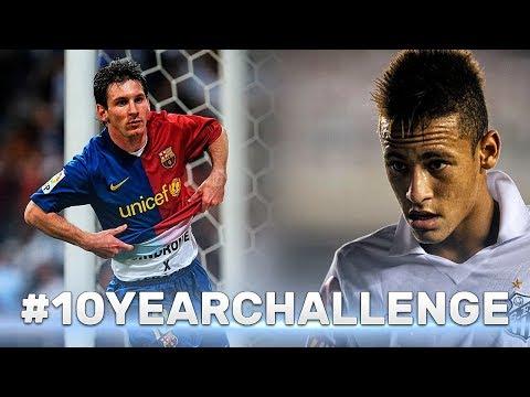 #10yearchallenge ● Footballers in 2009-2019 ● Ronaldo, Messi, Neymar and other