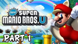New Super Mario Bros. Wii U Walkthrough - Part 1 Acorn Plains Let's Play WiiU Gameplay Commentary