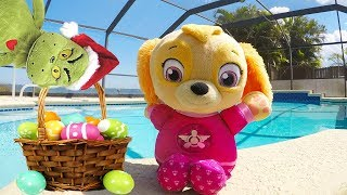 Learning ABCs In The Easter Swimming Pool | Alphabet Education For Kids