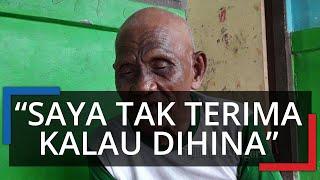 """Pengakuan Kakek yang Viral Duduk Bawa Tongkat Berpaku di Sentul, """"Saya Tak Terima Dituduh Penipu"""""""