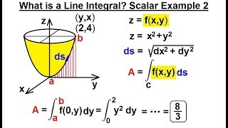 Calculus 3: Line Integrals (6 of 44) What is a Line Integral? Scalar: Example 2