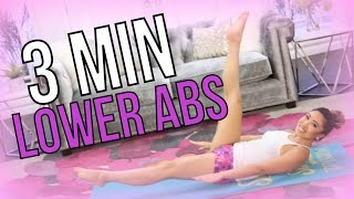 3 Minute LOWER ABS   POP Pilates Turbo by blogilates