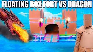 FLOATING BOX FORT CASTLE Vs A DRAGON!! 📦🐲 Fire Breathing, Sword Battle, Box Fort Armour & More!