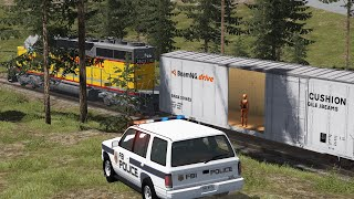 Crash Test Dummy: Police Escape 3 | BeamNG.drive
