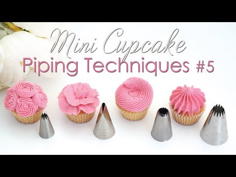 Download Mini Cupcake Piping Tip Techniques Tutorial #5 HD Mp4 3GP Video and MP3
