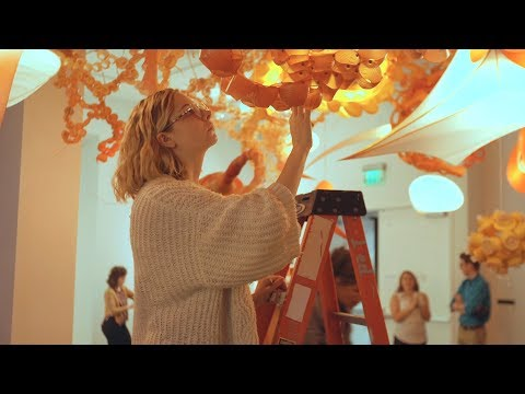 Students Help Install Art Installation – College of Charleston