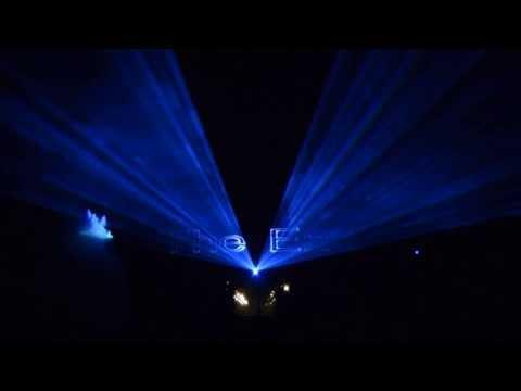 Spettacolo laser in esterno completo