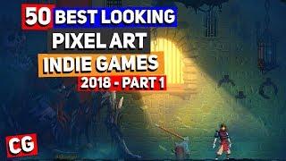 50 BEST LOOKING Pixel Art Indie Games Of 2018 - Part 1: Dead Cells, Desert Child, FoxTail & More!
