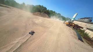 FPV drone chasing rc cars