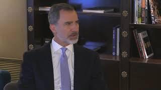 Encuentro de Su Majestad el Rey con el presidente de la Federación de Comunidades Judías de España