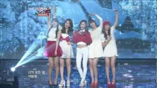 【1080P】Krystal,Sulli & Suzy(miss A)& Jiyoung(KARA)& Sohyun- Winter Songs (21 Dec,2012)
