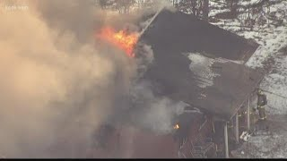 Fire captain killed, 3 other firefighters injured after collapse at Bethalto house fire