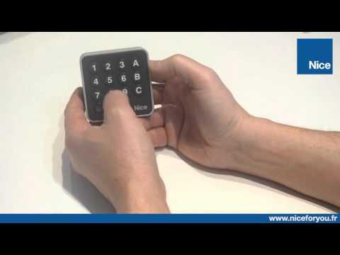 Remplacer le code secret sur un clavier à code radio Nice EDSWG
