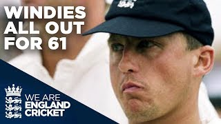 Caddick Takes 4 In 1 Over To Bowl Windies Out For 61 | England v Windies - 2000