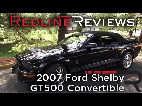2007 Ford Shelby GT500 Convertible Walkaround, Exhaust, Review, Test Drive