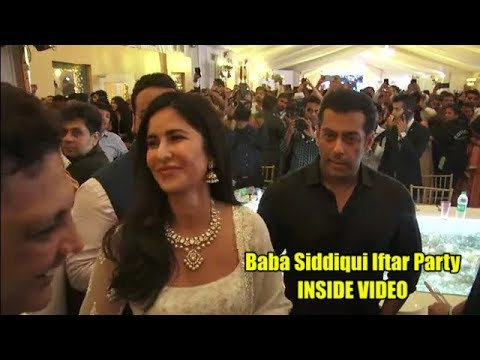 Actor Salman Khan  Katrina  Shahrukh attend Baba Siddiqui Iftar Party