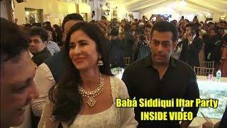 Actor Salman Khan  Katrina  Shahrukh attend Baba Siddiqui Iftar Party
