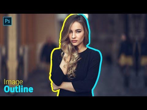photo retouching tutorial for creating image outline by sabke sab