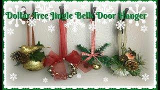 DOLLAR TREE DIY | Christmas Jingle Bells Door Hanger | $3.00 ea! | Kholo.pk