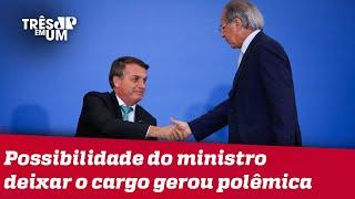 Bolsonaro diz ter total confiança em Guedes