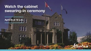 Cabinet swearing-in ceremony – April 30 at 10 am