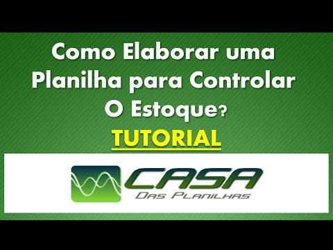 Como Fazer Planilha Controle De Estoque, Rápido, Fácil e Objetivo Excel 2013 (Vídeo em HD)