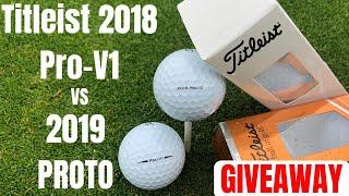 Titleist 2019 Prototype Ball vs 2018 Titleist Pro-V1 & HUGE GOLF GIVEAWAY