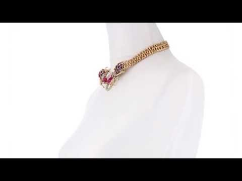 Betsey Johnson Creepshow Toc 2 Spider Frontal Necklace SKU:8445149