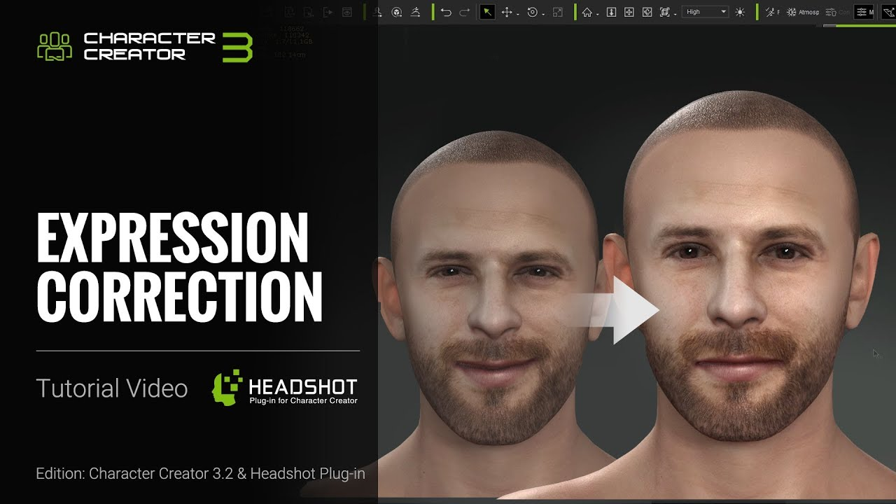 Headshot Plug-in Tutorial - Expression Correction - by 3Dtest