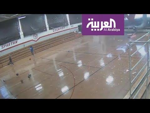 العرب اليوم - شاهد: فيديو صادم لعاصفة تهدم جزء بأكمله من مدرسة