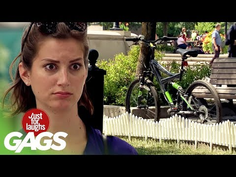 Invisible Biker Prank on Strangers