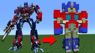 Minecraft Pixel Art Optimus Prime Tutorial Minecraftvideostv