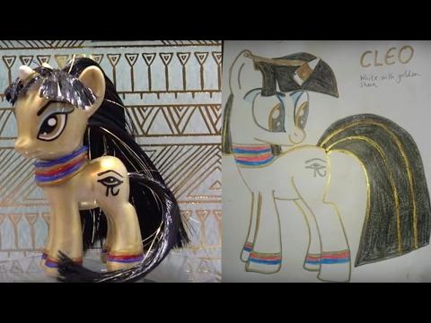 Custom CLEOPATRA PONY|| Fan Custom Friday #14 || Custom OC Pony Giveaway by MandaPanda #FCF